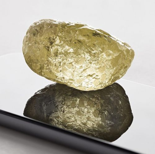 A 552-carat yellow diamond the size of a chicken egg has been found in North America