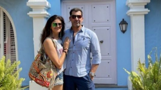Pooja Batra works out with Nawab Shah in Goa. See post