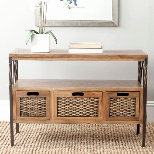 49 Best Of Console Table with Storage Baskets Pictures