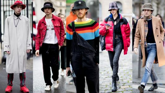 The Street Style Crowd at Paris Men's Fashion Week Brought Back the Bucket Hat