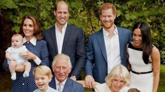 Prince George and Princess Charlotte with little Louis make for perfect portrait on Charles's 70th birthday