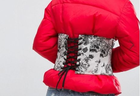 ASOS have put a corset on a puffer jacket and we don't know why