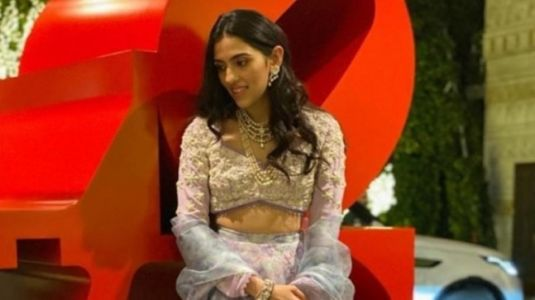 Shloka Ambani is regal in lavender lace lehenga at family function. See pic