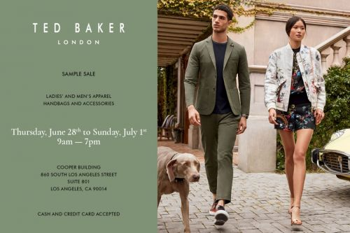 TED BAKER SAMPLE SALE - DON'T MISS THE MOST ANTICIPATED DEAL-HAPPY EVENT!