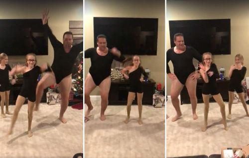 Watch This Dad of the Year Dance to Beyoncé's 'Single Ladies' in a Leotard