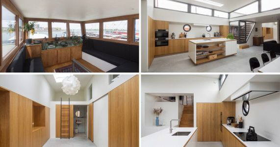 Amsterdam cargo ship has been transformed into a stunning luxury houseboat