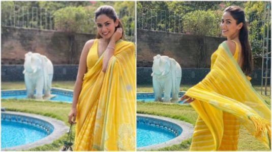 Mira Rajput is ethereal in Rs 35k yellow saree at friend's wedding. See pics