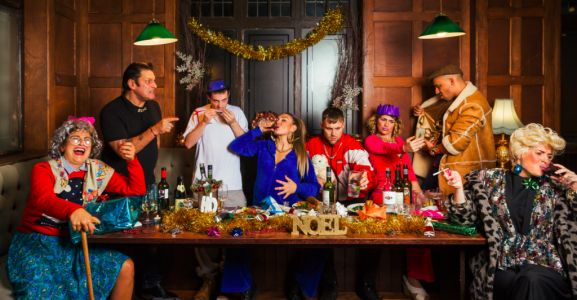 Someone's putting on 'A Very Cockney Christmas' dinner and we're not sure about it