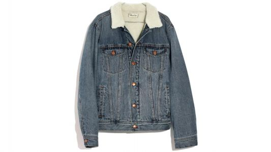 The Madewell Men's Sherpa Jean Jacket Maura Wants for Herself
