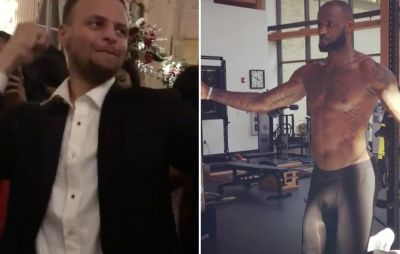 Watch Steph Curry and Kyrie Irving Mock LeBron's Workout