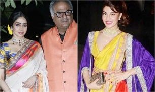 We don't know what Jacqueline, Sridevi and others were thinking when they wore these gaudy attires for Diwali