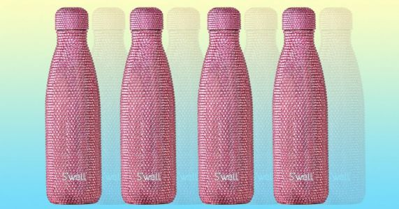You can now buy a pink Swarovski-encrusted water bottle