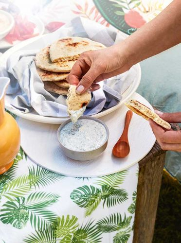 On the BBQ: Grilled Flatbread with Spiced Yoghurt