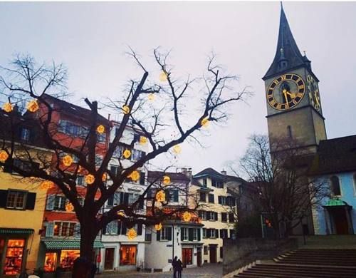 Zurich looking pretty festive! Thanks for tagging