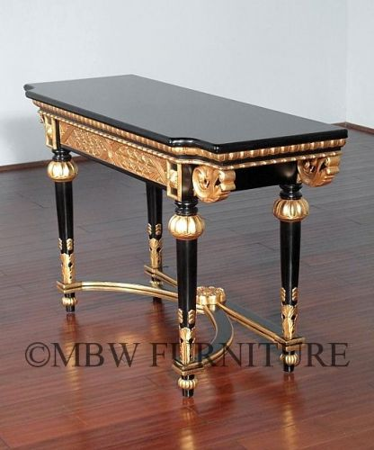 49 Luxury Black and Gold Console Table Images