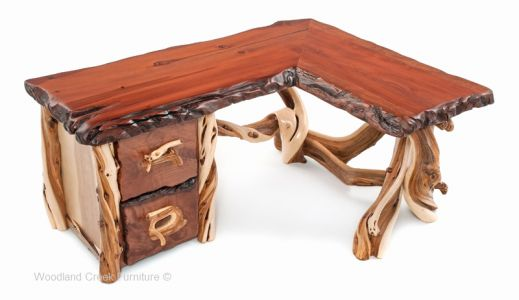 30 Unique Rustic L Shaped Desk Pictures