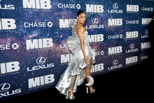 Tessa Thompson's Look at the 'Men in Black: International' Premiere Is Out-of-This-World Good