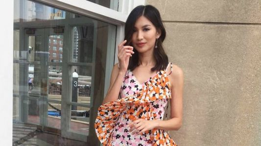 'Crazy Rich Asians' Star Gemma Chan Celebrated Asian Fashion Design in a Floral Kenzo Dress