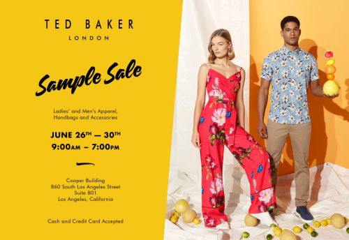 TED BAKER WAREHOUSE SALE, June 26th - 30th