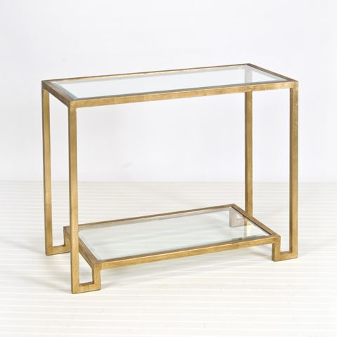 46 Beautiful Gold Glass Console Table Images
