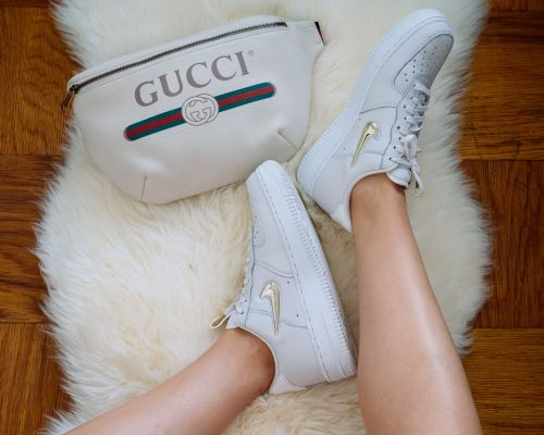 Perfect Pairs: Gucci Printed Belt Bag and Nike Air Force 1 Low Top Sneakers