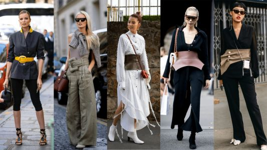 A Statement Belt Was the Accessory of Choice Over the Weekend at Paris Fashion Week