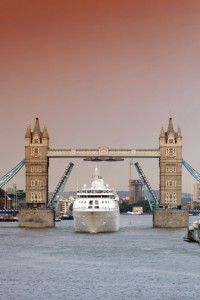Silversea Silver Cloud in London for the Olympics
