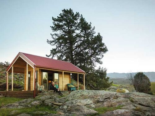 Inside a rabbit fur fashion designer's 10sqm, solar-powered eco cabin in Central Otago
