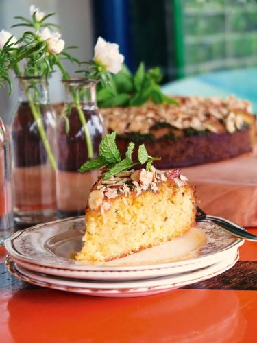 Recipe: East End Café's Moroccan honey and mint syrup cake