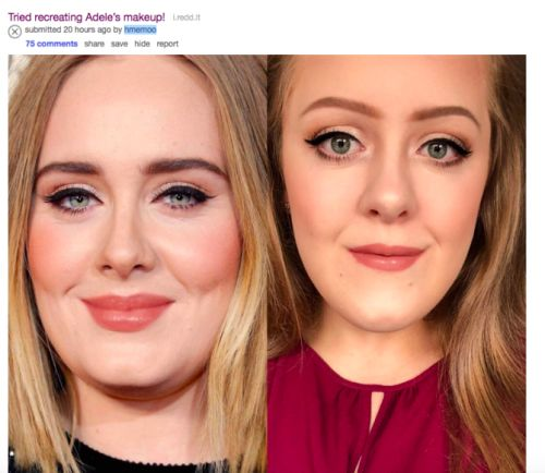 This Redditor Looks Identical to Adele, and We Can't Stop Staring