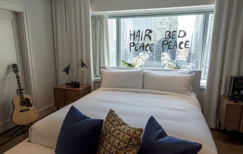 You can stay in the suite where John Lennon and Yoko Ono held their bed-in for peace