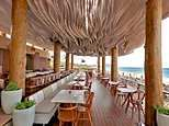 The coolest ceiling in the world? Video shows incredible ripple effect roof at a Greek restaurant