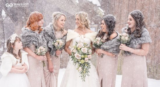 Couple fight the Beast from the East to get married in the snow