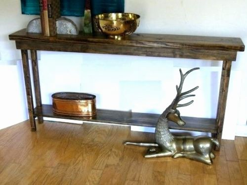 50 Awesome Rustic Narrow Console Table Graphics