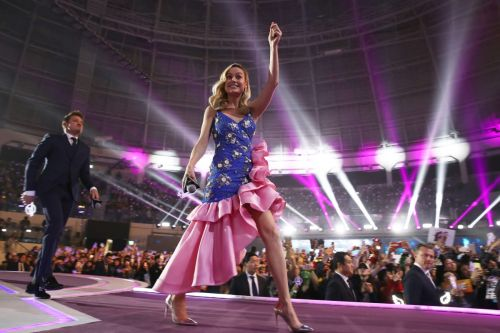 Brie Larson Channeled a Glamorous Pageant Queen in Ruffled Rodarte