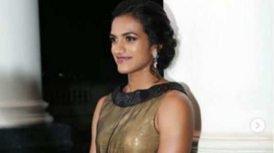 PV Sindhu shines bright like a diamond in a shimmery gown