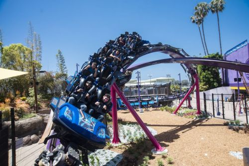 SeaWorld San Diego's Dueling Roller Coaster 'Tidal Twister' - The First Of Its Kind In The World - Is Now Open