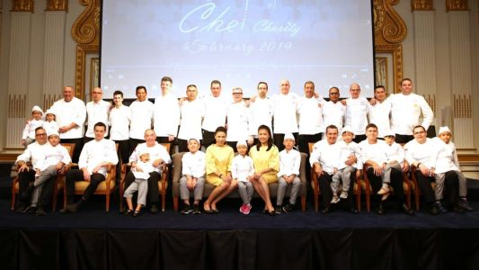 The merry-go-round dinner at Bangkok Chefs Charity Gala Dinner 2019