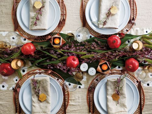 2 Gorgeous Holiday Tables - With Just One Set Of Tableware