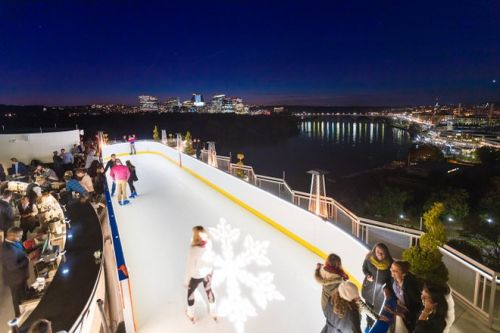 You Can Go Ice Skating on the Roof of D.C.'s Watergate Hotel This Winter