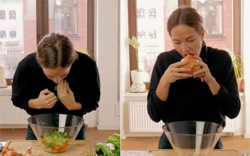 Watch this crazy chef cook a meal IN her mouth, and you'll never want to eat again!