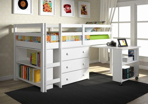 30 Best Of Full Size Loft Bed with Desk Underneath Pics