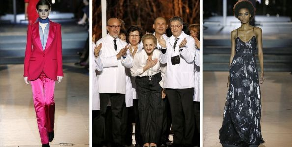 Carolina Herrera, patron saint of Manhattan elegance, says farewell in classic style