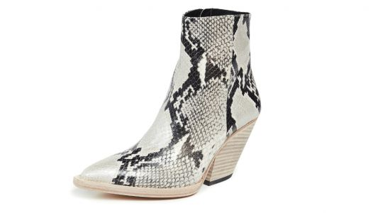 These Ankle Boots Convinced Dara to Give Snakeskin a Shot