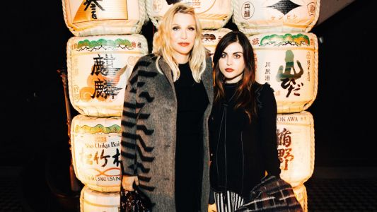 Courtney Love and Frances Bean Cobain Wore Mother-Daughter Prints at Kenzo's 'La Collection Memento' No. 2 Debut