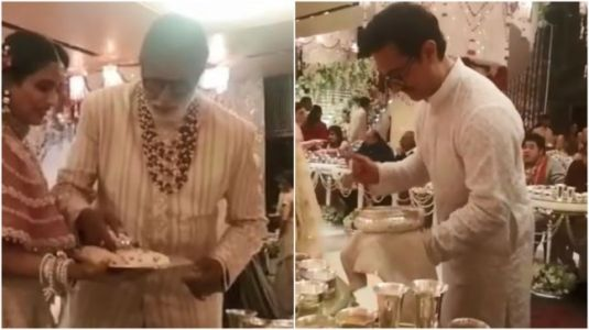 Amitabh and Aamir serve food at Isha Ambani wedding. Watch unseen video