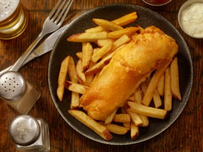Activated charcoal fish and chips is the meal from your darkest food nightmare