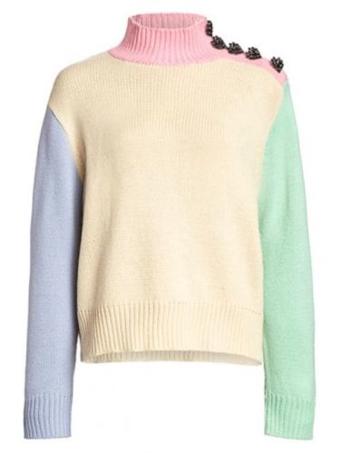 The Pastel Color-Blocked Sweater Tyler Is Stashing Away for Cold Weather