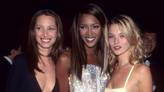 Great Outfits in Fashion History: Kate Moss, Naomi Campbell and Christy Turlington at the 1995 Met Gala