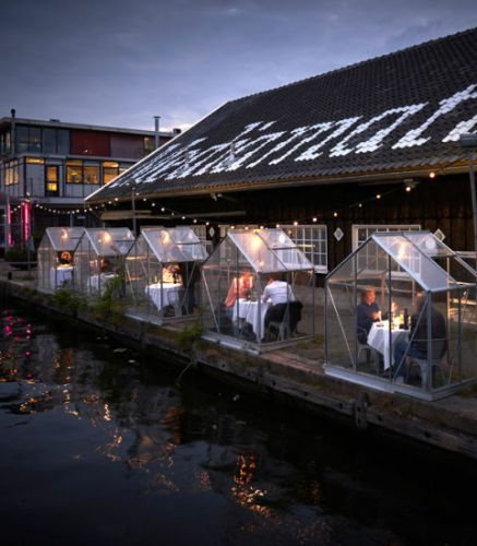 Mediamatic Creates A Covid-Free Outdoor Greenhouse Dining Experience